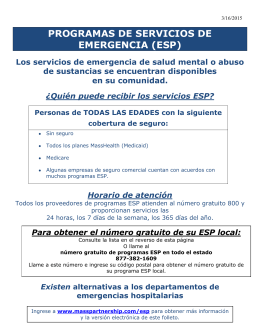 programas de servicios de emergencia (esp)