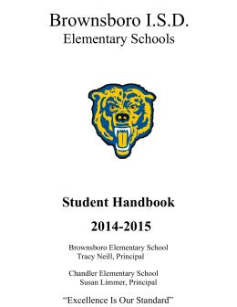 Student Handbook - Brownsboro Elementary School