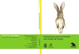 Actuaciones para el fomento del conejo de monte. (1 - CBD