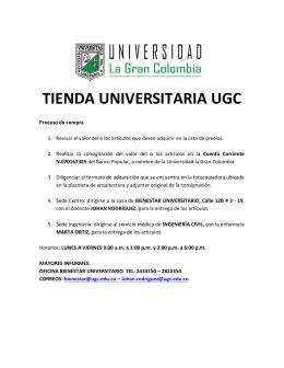 TIENDA UNIVERSITARIA UGC - Universidad La Gran Colombia