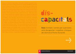 Guia d`entitats i serveis per a persones amb discapacitat i malalties