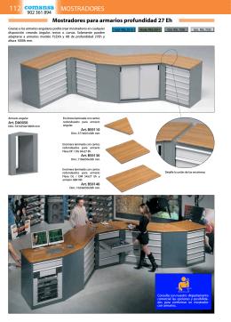 Mostradores de armarios metálicos