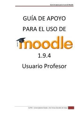 Guía Moodle 1.9.4 usuario profesor