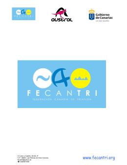 NORMATIVA de las Series Canarias de Triatlon