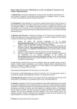 """Bases Legales del concurso """"Softónic@"""" por un día"""" (en"""