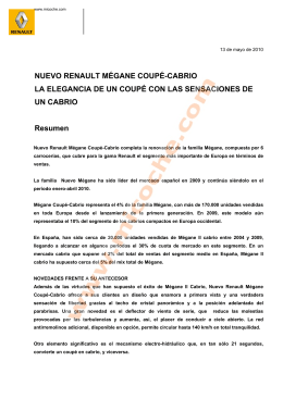 NUEVO RENAULT MÉGANE COUPÉ-CABRIO LA
