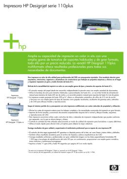 Impresora HP Designjet serie 110plus