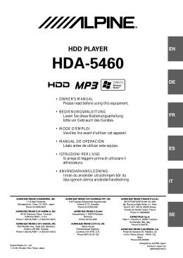 HDA-5460 - Alpine Europe