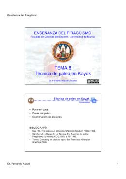 TEMA 8 Técnica de paleo en Kayak - OCW