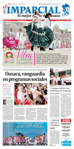 Oaxaca, vanguardia en programas sociales