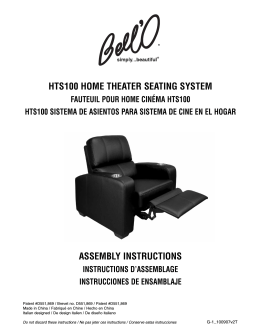 hts100 home theater seating system assembly instructions