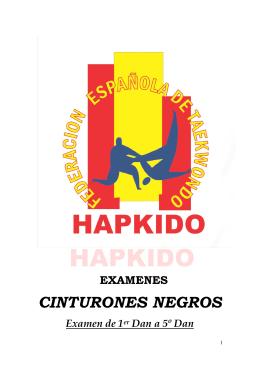 reglamento examen hapkido 1 - Federación Española de Taekwondo