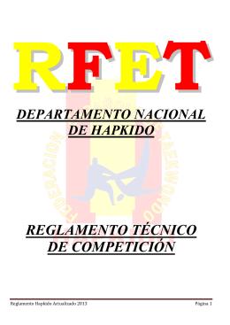 reglamento técnico de competición