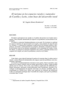 El turismo en los espacios rurales y naturales de Castilla y León