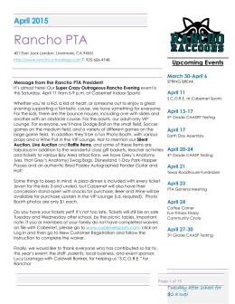 Rancho PTA - Peachjar Maintenance Home