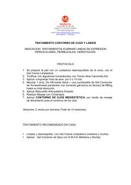 TRATAMIENTO CONTORNO DE OJOS Y LABIOS INDICACION