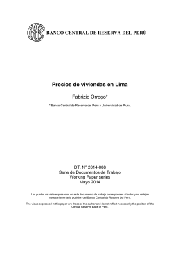 Precios de viviendas en Lima - Banco Central de Reserva del Perú
