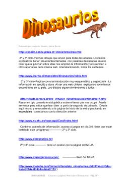 webs dinosaurios
