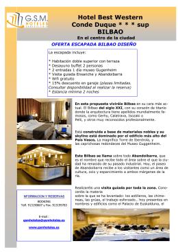 Hotel Best Western Conde Duque * * * sup BILBAO