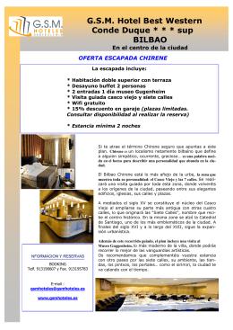 G.S.M. Hotel Best Western Conde Duque * * * sup BILBAO