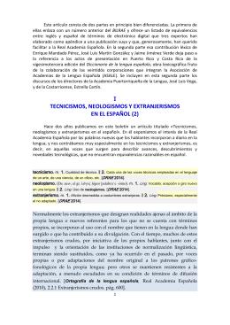 i tecnicismos, neologismos y extranjerismos en el español (2)