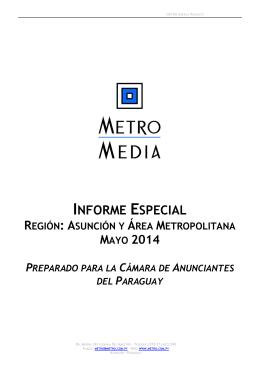 MAYO - Cámara de Anunciantes del Paraguay