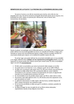 ARTICULO BENEFICIOS DE LA PLAYA Y LA