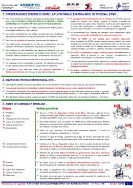 1. consideraciones generales sobre la plataforma elevadora móvil