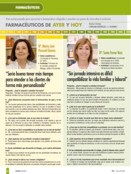 Farmacéuticos de ayer y de hoy - Granada Farmacéutica, revista del