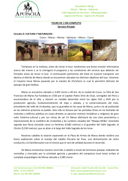 Horseback riding: Maras - Moray - Salineras Va