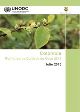 Monitoreo de Cultivos de Coca 2014 Julio 2015