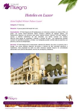 Hoteles en Luxor