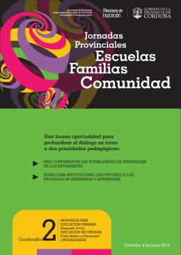 Escuelas Familias Comunidad Jornadas Una buena oportunidad