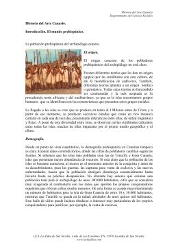 Historia del Arte Canario. Introducción. El mundo