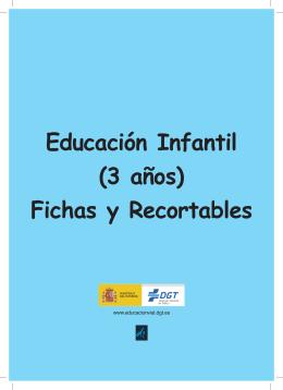 Educación Infantil (3 años) Fichas y Recortables