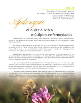 apiterapia, el dulce alivio