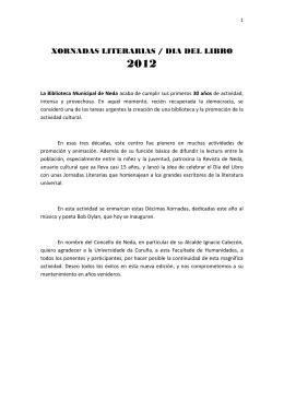 XORNADAS LITERARIAS / DIA DEL LIBRO
