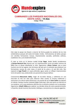 CAMINANDO LOS PARQUES NACIONALES DEL