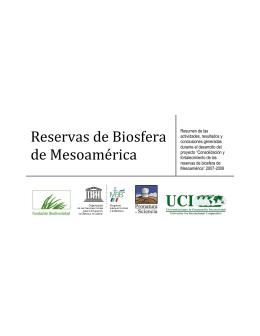 Reservas de Biosfera de Mesoamérica