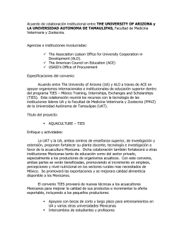 Acuerdo de colaboración institucional entre THE UNIVERSITY