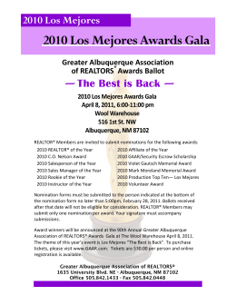 2010 Los Mejores Awards Gala - Greater Albuquerque Association