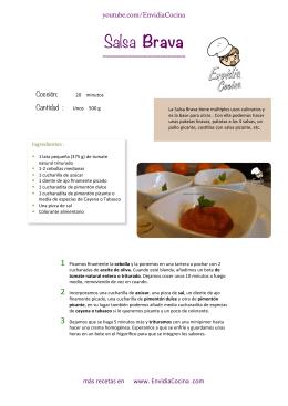 Salsa Brava.xlsx - Cocina en Video