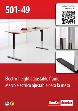 Electric height adjustable frame Marco electrico