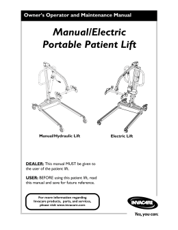 Manual/Electric Portable Patient Lift - PHC