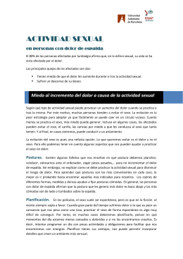 Folleto actividad sexual y dolor