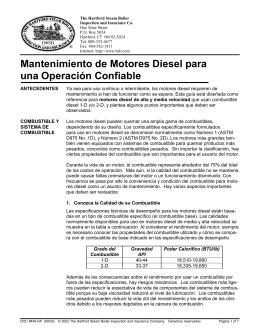 Mantenimiento de Motores Diesel para una Operación