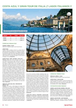 COSTA AZUL Y GRAN TOUR DE ITALIA // LAGOS ITALIANOS Y