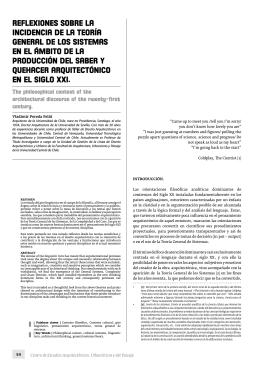 reflexiones sobre la incidencia de la teoría general de los sistemas