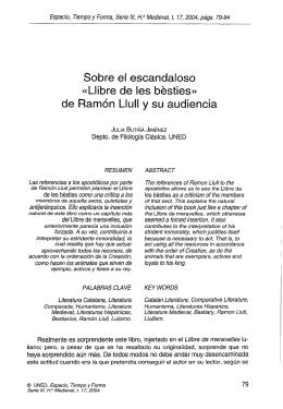 Sobre el Escandaloso «Llibre de les bésties» de Ramón Llull y su
