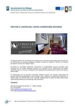 SECTOR A (HOTELES): HOTEL EUROSTARS ASTORIA